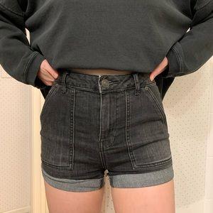 Free People High Rise Denim Shorts